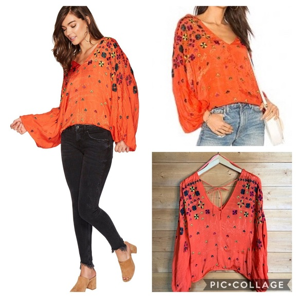 Free People Tops - Free people music in time v neck top size S EUC
